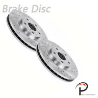2pcs Front Left Right Drilled Slotted Brake Rotors Discs Fit Lexus 43512-53020