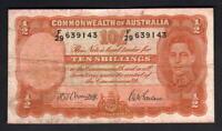 Australia R-13. (1942) 10 Shillings - Armitage/McFarlane.. Fine+