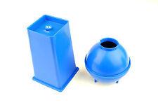 CANDELA stampo Set x 2. 1 palla sfera & 1 rettangolare quadrata con rastremazione fatta in UK s7507