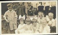 Vintage FOUND PHOTO A Group Of Little Kids bw CHILDREN Original Portrait 04 27 J