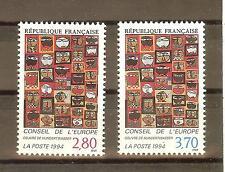 TIMBRES DE SERVICES CONSEIL DE L'EUROPE YVERT N° 112 à 13 NEUF **