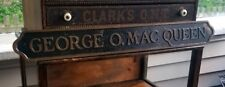 Antique Bronze Brass Eloquent GEORGE MAC QUEEN Scottish Gaelic Plaque