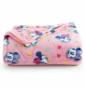 Disney's Minney Mouse The Big One Oversized Supersoft Plush Throw Blanket 5x6