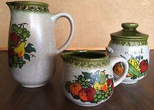 VIntage WESTERWALDER WERTARBEIT German Pottery PITCHER, Creamer, Sugar