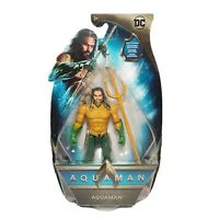 """DC Comics AQUAMAN Movie (JASON MOMOA) 6"""" Action Figure with Trident New in Box"""