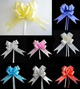 30mm Pull Bows Wedding Hampers Car Gift Wrap Ribbon Florist Pew Xmas Decorations