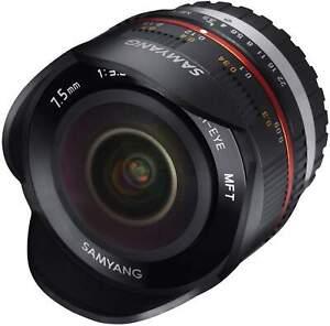 Samyang 7.5mm F3.5 Fisheye UMC II APS-C MFT - Black Camera Lens