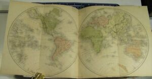 *1860* BLACK'S ATLAS OF MODERN & ANCIENT GEOGRAPHY/*40 DOUBLE PAGE MAPS in COLOR