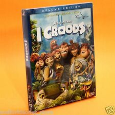 I CROODS 3D / BLURAY 3D + BLU-RAY + DVD NUOVO DE LUXE EDITION