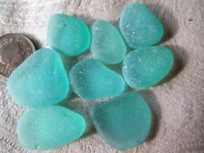 GENUINE NORTH EAST ENGLISH SEA GLASS/ SET OF FLAT  CLASSIC SHADE