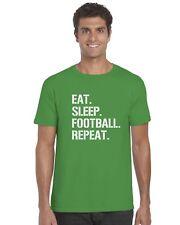 Eat Sleep Fútbol Repetir Niños Camiseta Fútbol Camiseta Edad 3-13