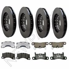 For Porsche Cayenne Turbo S GTS Front & Rear Vented Brake Rotors & Pads Genuine