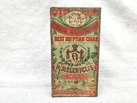 1920 Vintage Rare Special Manufactory P.Meleniclis Cairo Cigarette Tin Box Egypt