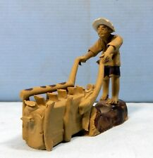 Vintage Shiwan ceramic bonsai mudman farmer circa 1980 retired