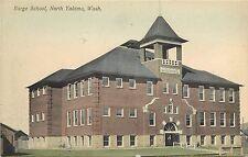 c1907 Hand-Colored Postcard; Barge School, North Yakima WA Yakima Co. Unposted