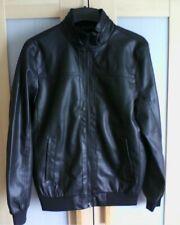 Lads Jacket Mens Black Faux Leather Shiny Jacket BNWT