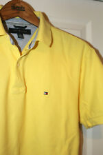 Mens TOMMY HILFIGER polo t shirt. Yellow. Size S