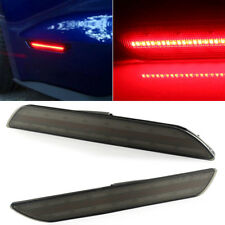 Smoked Lens Front Amber Rear Red Auto LED Side Marker Lights Assembly Light Lamp