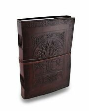 Handmade Large Embossed Leather Bound Journal Celtic Tree of life Personal Diary