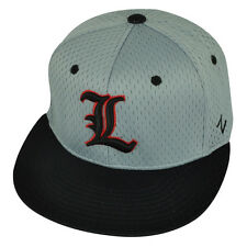NCAA Louisville Cardinals Zephyr Flat Bill Hat Cap Grey Black Fitted Size Youth