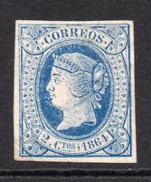Spain 2 Cu c1864 Unused Stamp (tiny thin) (4320)
