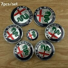 7 pz set new 2016 color Logo ALFA ROMEO 74mm 60mm 40mm badge, volante coprimozzo