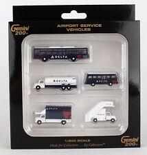 GEMINI200 Delta Ground Service Equipment Trucks G2DAL720 1/200, New