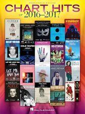 CHART HITS OF 2016-2017 PIANO VOCAL GUITAR SHEET MUSIC SONG BOOK