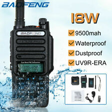18W Baofeng UV-9R Plus Walkie Talkie VHF UHF Dual Band Handheld Two Way Radio