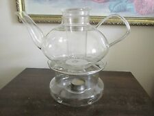 Schott Mainz Jena Glass Germany Tea Pot With Warmer
