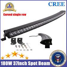 37inch Curved LED Light Bar 180W Offroad CREE Slim Single Row Spot RZR 150W 40