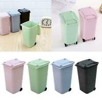 Trash Can Recycling Mini Dustbin Storage Bin-Shape Pen Holder Plast Desktop Q4Q8