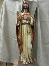 "23"" Sacred Heart of Jesus Statue Resin Hand Painted"