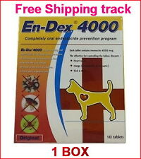 1 BOX EN-DEX 4000 REMOVE PREVENT TICKS AND FLEAS FOR Cats and Dogs Tablet Pill