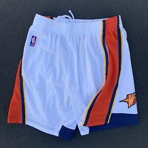 Mitchell & Ness Golden State Warriors Shorts NBA 2009-10 White Swingman NEW sz M