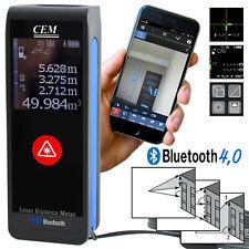 Laser Entfernungsmesser Wasserwage Distanzmesser Bluetooth mit App Touchscreen
