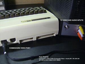6' Commodore A/V Video Monitor Cable (Composite Video + Audio) VIC-20 / C-64