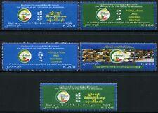 Myanmar Burma 2014 Volkszählung Zensus Census II 421-425 Postfrisch MNH