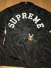 Supreme Champion Half Zip Pullover Medium ss17 Black Coaches Jacket Kaws