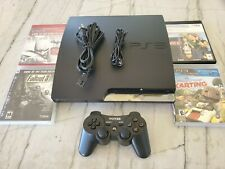 Sony Playstation 3 PS3 320gb Slim Console Bundle w/ Contr & Games Perfect Cond.