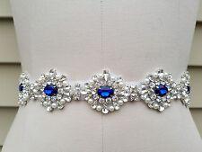 Something Blue Wedding Belt, Wedding Sash, Bridal Sash, Rhinestones