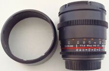 Rokinon 85mm T/1.5 UMC II Lens for Canon