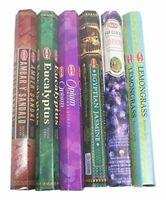 Hem Incense Sticks 6 Boxes X 20 Grams Variety Pack  Total 120 Gm