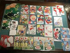 30+ Lot Vintage Greeting Cards Holiday Christmas St Patrick Birthday Gift etc