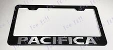 Chrysler PACIFICA Stainless Steel Black License Plate Frame Rust Free Caps