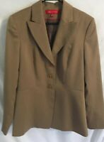 Anne Klein Womens Taupe Work Career Coat Blazer Jacket Size 12 Lined