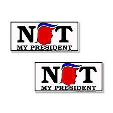 "Anti-Trump Anti Pence NOT MY PRESIDENT"" Impeach Trump- 2 pack bumper stickers"