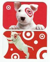 Target Gift Card Bullseye Dog LOT of 2 - Older / 2004 & 2005 - No Value