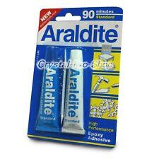 ( FREE 720 Crystal ) Araldite 90 Minutes AB Epoxy Adhesive Applicator Glue 17 ml