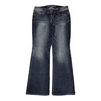 American Eagle Womens Jeans Sz 14 Kick Boot Cut Super Stretch Faded Dark Wash
